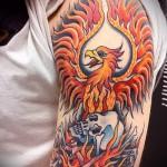 тату феникс на плече - фото готовой татуировки от 11022016 2