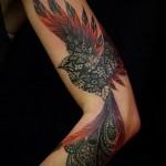 тату феникс на руке - фото готовой татуировки от 11022016 3