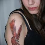 тату феникс на руке - фото готовой татуировки от 11022016 4