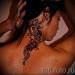 тату феникс на шее - фото готовой татуировки от 11022016 3