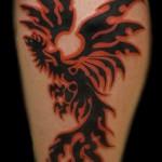 тату феникс трайбл - фото готовой татуировки от 11022016 4