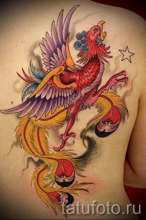 тату феникс - фото готовой татуировки от 11022016 1