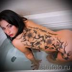 тату цветы на бедре - примеры готовых тату в фотографиях 01022016 - 001