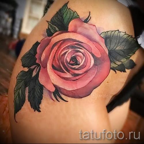 тату цветы на бедре - примеры готовых тату в фотографиях 01022016 - 004
