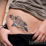 тату цветы на бедре - примеры готовых тату в фотографиях 01022016 - 018