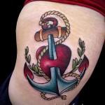 тату якорь на ребрах - фотография с примером татуировки от 03022016 2
