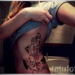 тату якорь на ребрах - фотография с примером татуировки от 03022016 4