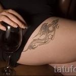 тату японских девушек на бедре - примеры готовых тату в фотографиях 01022016 1