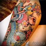 тату японских девушек на бедре - примеры готовых тату в фотографиях 01022016 4