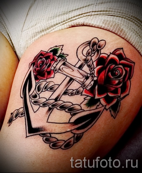 тату японских девушек на бедре - примеры готовых тату в фотографиях 01022016 5