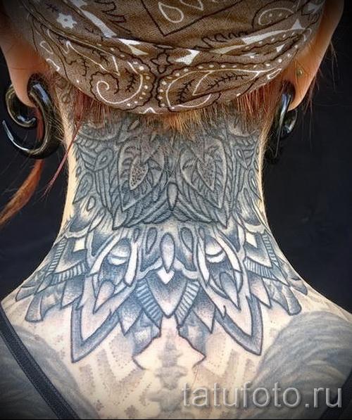 узоры на шее тату - фото пример для выбора от 28022016 18
