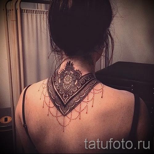 узоры на шее тату - фото пример для выбора от 28022016 4