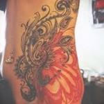 феникс тату на бедре - примеры готовых тату в фотографиях 01022016 4