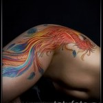 феникс тату на бедре - примеры готовых тату в фотографиях 01022016 6