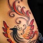 феникс тату на бедре - фото готовой татуировки от 11022016 1