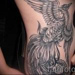 феникс тату на бедре - фото готовой татуировки от 11022016 4