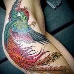 феникс тату на бедре - фото готовой татуировки от 11022016 7