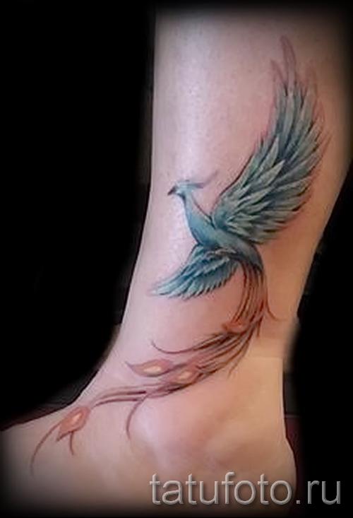 феникс тату фото на щиколотке - фото готовой татуировки от 11022016 1