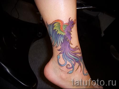 феникс тату фото на щиколотке - фото готовой татуировки от 11022016 3