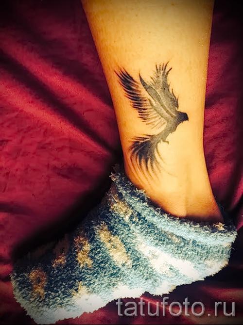 феникс тату фото на щиколотке - фото готовой татуировки от 11022016 5