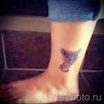 феникс тату фото на щиколотке - фото готовой татуировки от 11022016 7
