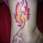 феникс тату фото на щиколотке - фото готовой татуировки от 11022016 8