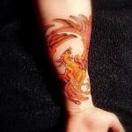фото тату феникса на руке - фото готовой татуировки от 11022016 2
