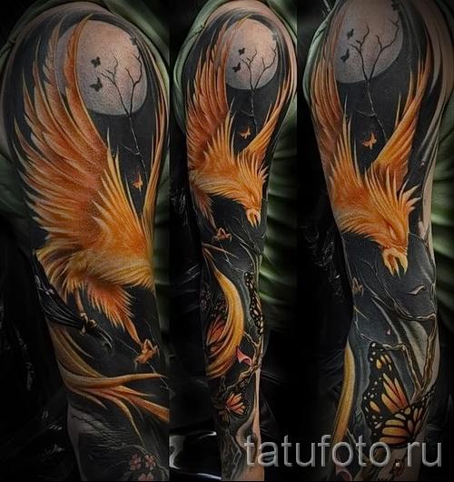 фото тату феникса на руке - фото готовой татуировки от 11022016 4