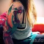 фото тату феникса на руке - фото готовой татуировки от 11022016 5