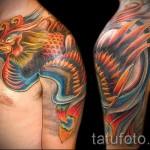 фото тату феникса на руке - фото готовой татуировки от 11022016 6