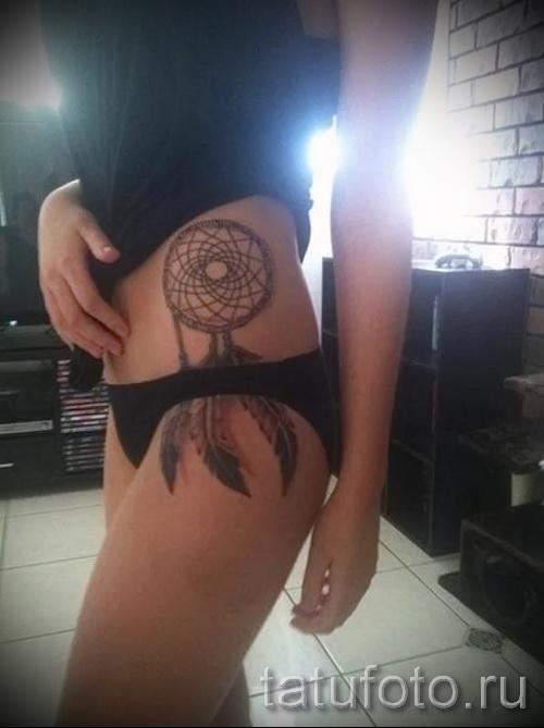 ловец снов тату на ребрах - фотография с примером татуировки от 03022016 13