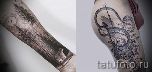 тату змея на бедре - примеры готовых тату в фотографиях 01022016 4