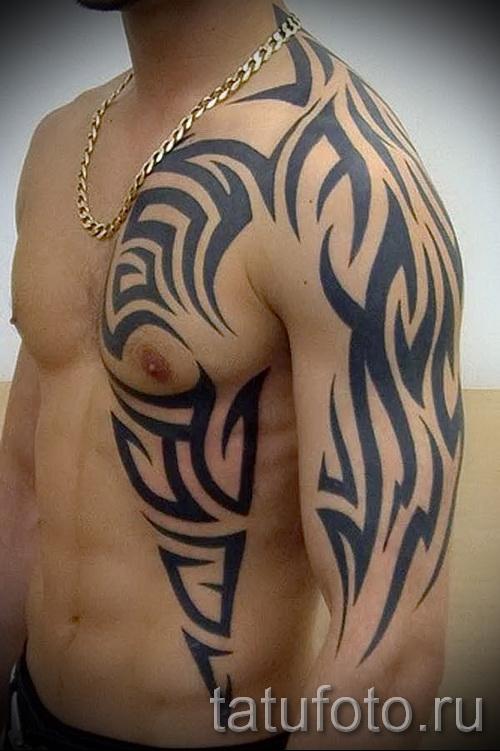 тату кельтский узор на плечо - фото пример для выбора от 28022016 3