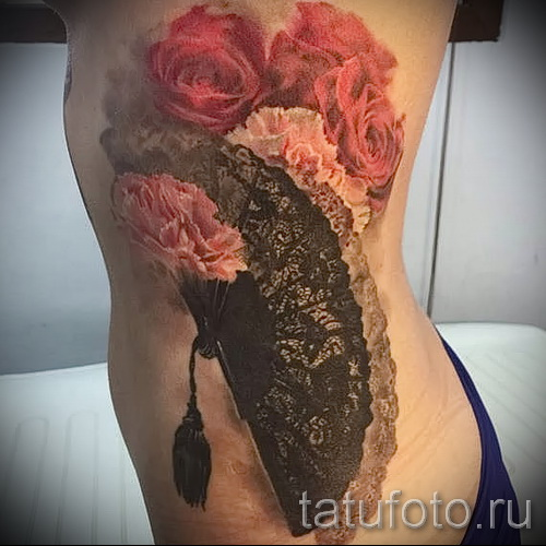 тату на ребрах у девушек фото - фотография с примером татуировки от 03022016 14