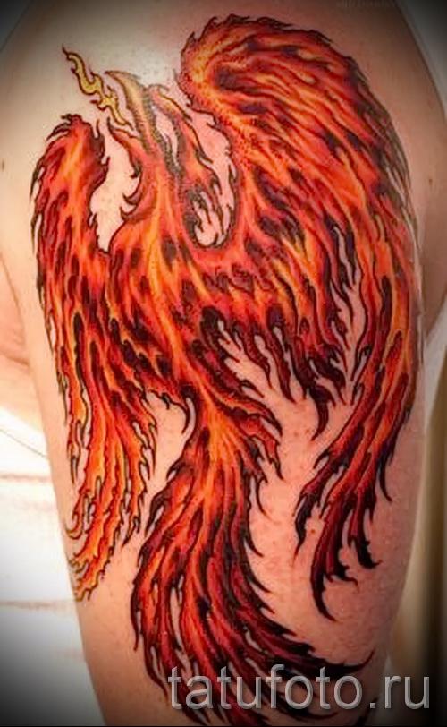 тату огненный феникс - фото готовой татуировки от 11022016 5