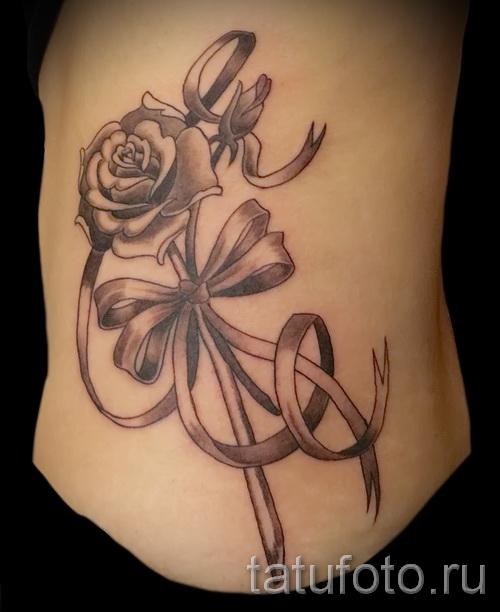 тату розы на бедре - примеры готовых тату в фотографиях 01022016 026