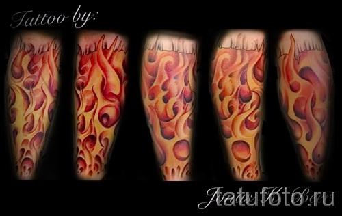 тату узоры пламя - фото пример для выбора от 28022016 11