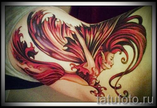 тату феникс в огне - фото готовой татуировки от 11022016 6