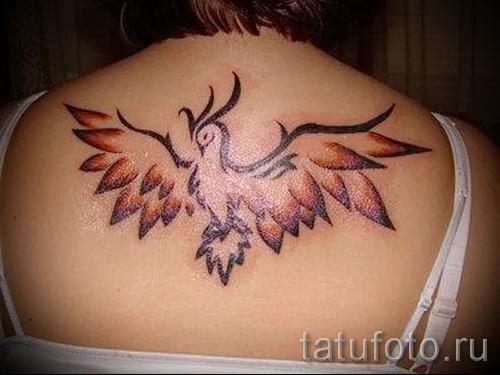 тату феникс для девушек - фото готовой татуировки от 11022016 2