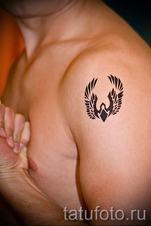 тату феникс маленькая - фото готовой татуировки от 11022016 4