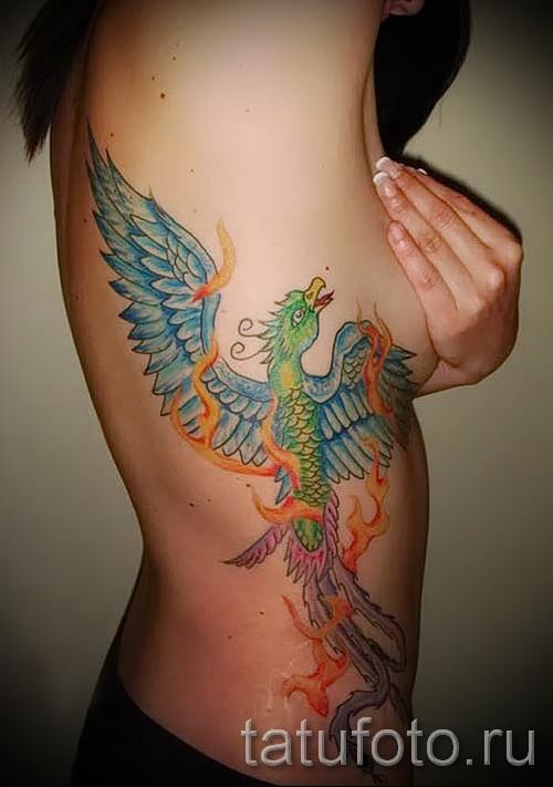 тату феникс на боку - фото готовой татуировки от 11022016 4