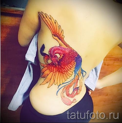 тату феникс на пояснице - фото готовой татуировки от 11022016 9