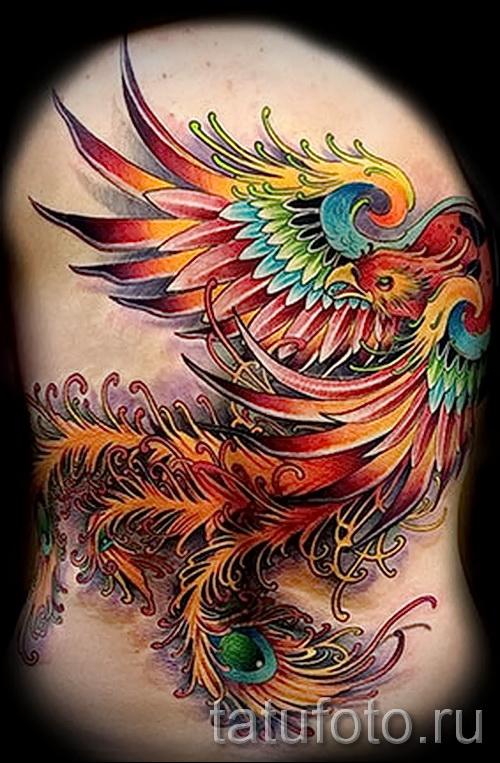 тату феникс 3d - фото готовой татуировки от 11022016 3