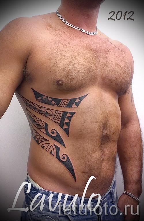 узоры на животе тату - фото пример для выбора от 28022016 11