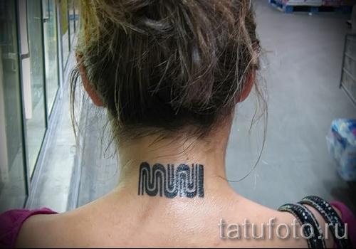 узоры на шее тату - фото пример для выбора от 28022016 23