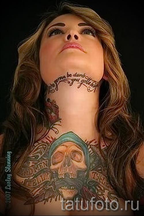 узоры на шее тату - фото пример для выбора от 28022016 26