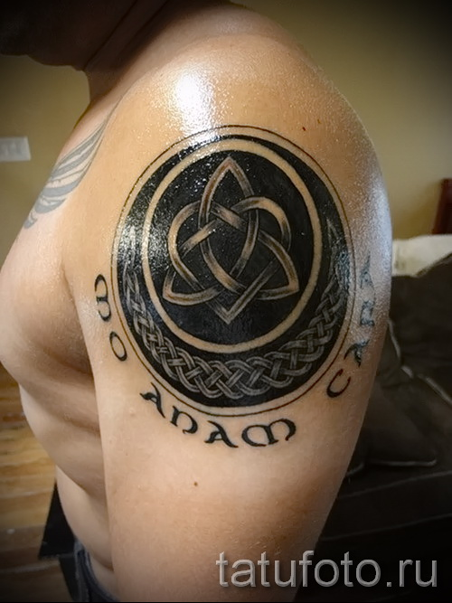 Celtic tattoo pattern on the shoulder - an example of a photo to select from 28022016 3