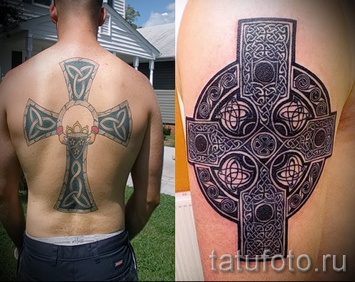 Celtic tattoo patterns on his hand - a photo model for the selection of 28022016 1