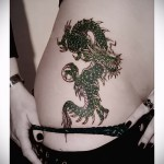 Dragon tattoo on his thigh - examples of finished tattoo photos 01022016 1