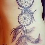 Dreamcatcher tatouage sur les côtes - une photo avec un tatouage sur l'exemple 03022016 2